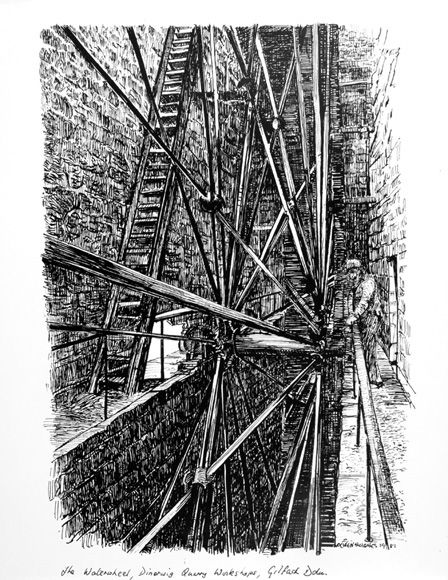 Dinorwic Quarry Workshops, The Waterwheel