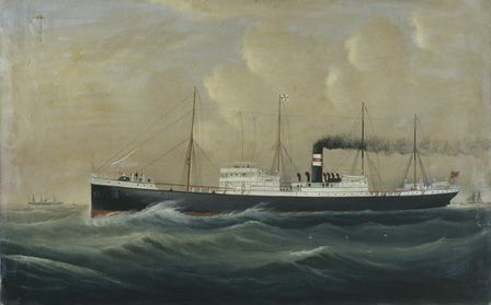 unidentified steamer of the Harrison Line