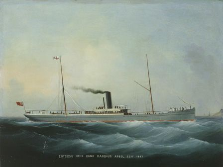 S.S. CARMARTHENSHIRE Entering Hong Kong Harbour April 23rd 1897