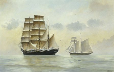 The HOPE and AERON BELLE Sailing in Company