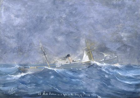 S.S. NORTH BRITAIN in a Gale, Bay of Biscay 1889