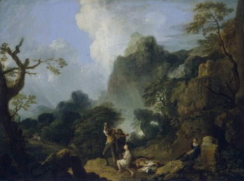 Landscape with Banditti, 1752 (Oil on canvas)