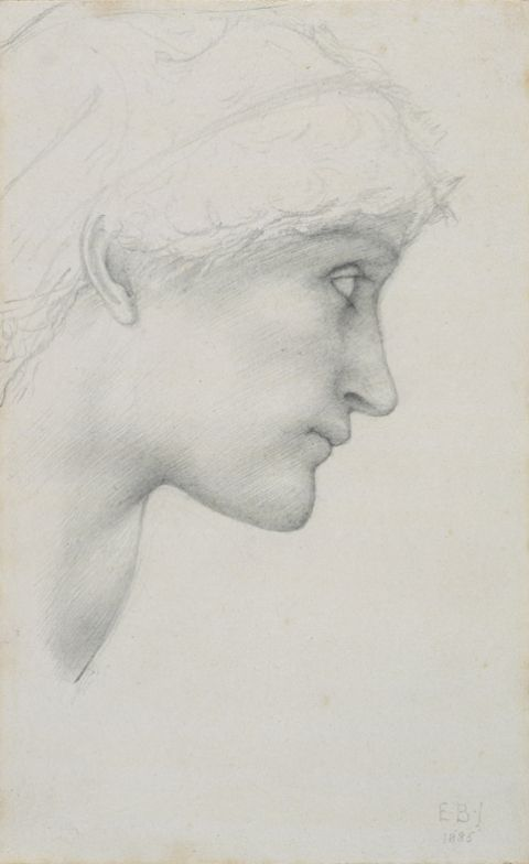 Head, 1885 (Pencil on paper)
