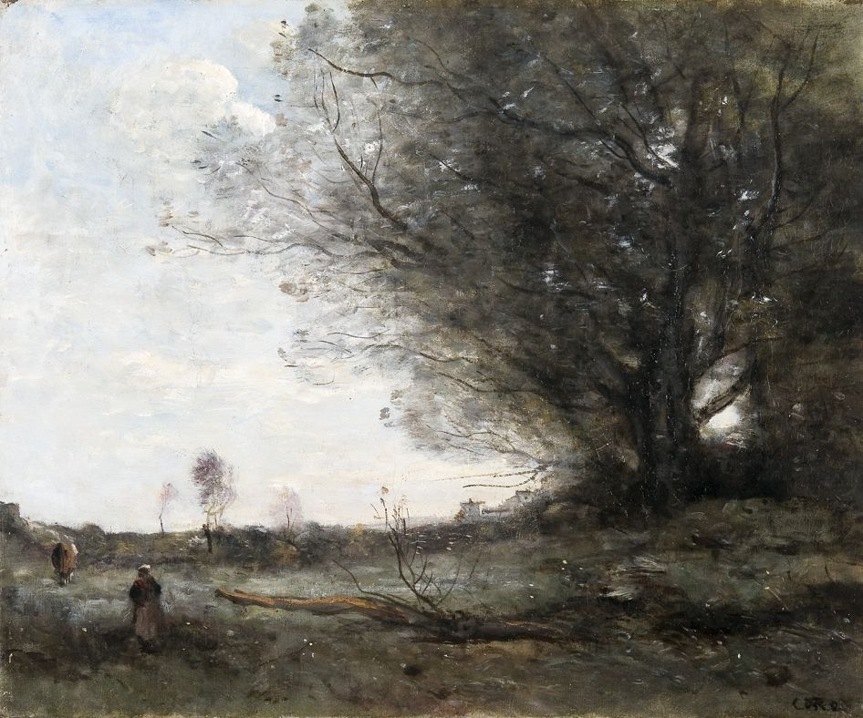 A Surrey landscape ( Oil on canvas)