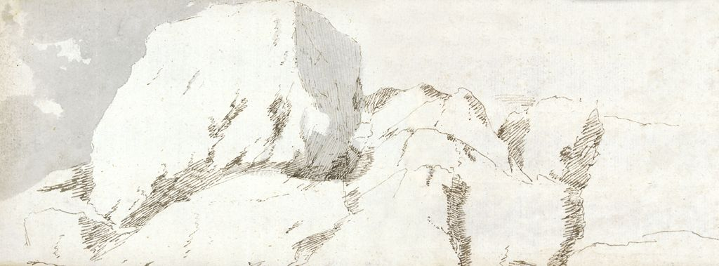 Part of Pembrokeshire, c1678 (w/c & brown ink on paper)
