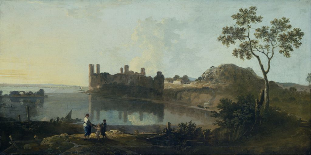 Caernarvon Castle (Oil on canvas)