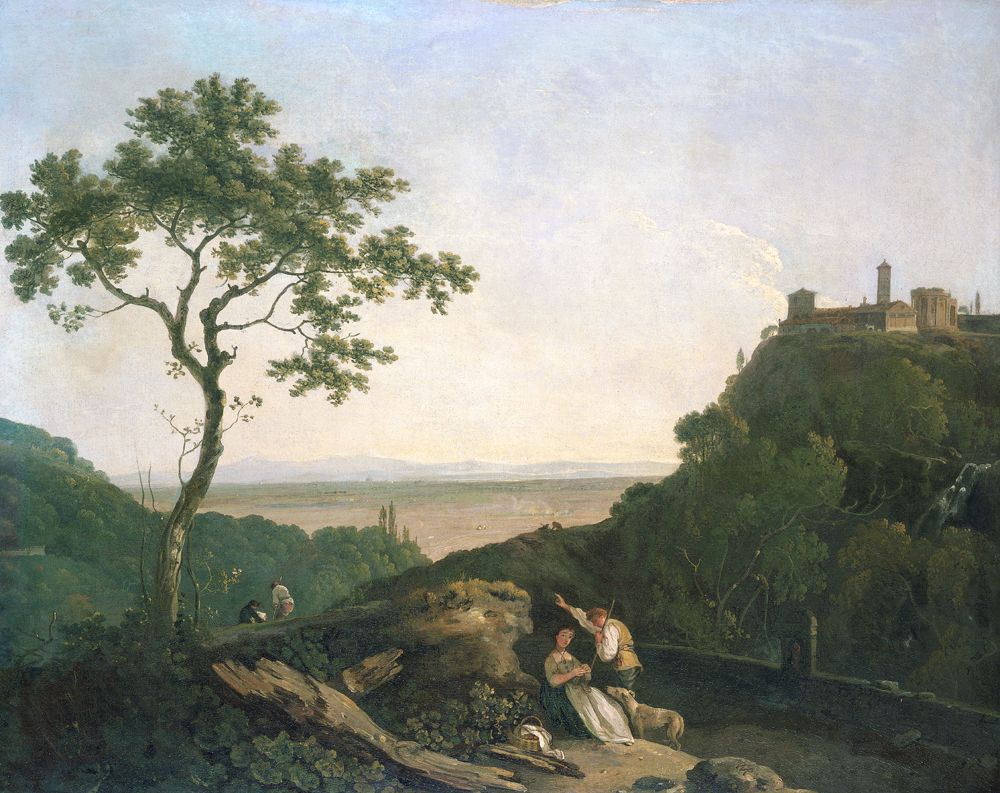 View at Tivoli (Oil on canvas)