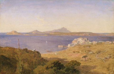 Pozzuoli, 1831 ( Oil on paper on canvas)