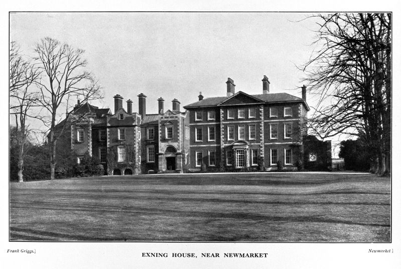 Exning, Lord Glanely's palatial Newmarket house.