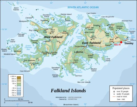 Falklands map
