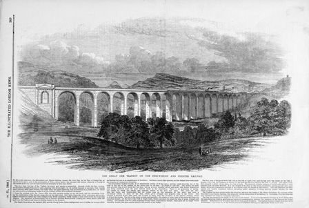 The Great Dee Viaduct on the Shrewsbury and Chester Railway