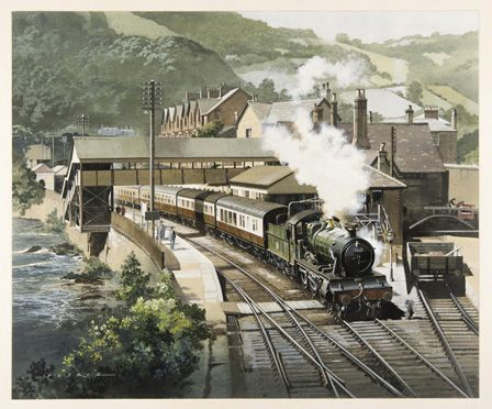 Railway Scene at Llangollen Station
