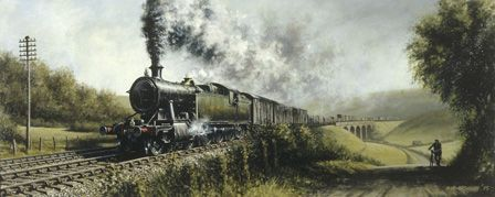 G.W.R. Freight Train in South Wales Headed by Locomotive 720X
