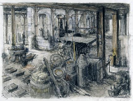 Scene at the Tubal Cain Foundry, Cardiff