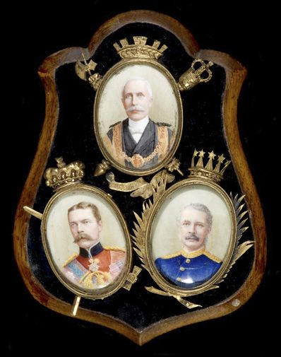 Miniatures of T. Morel, Kitchener & General Gordon