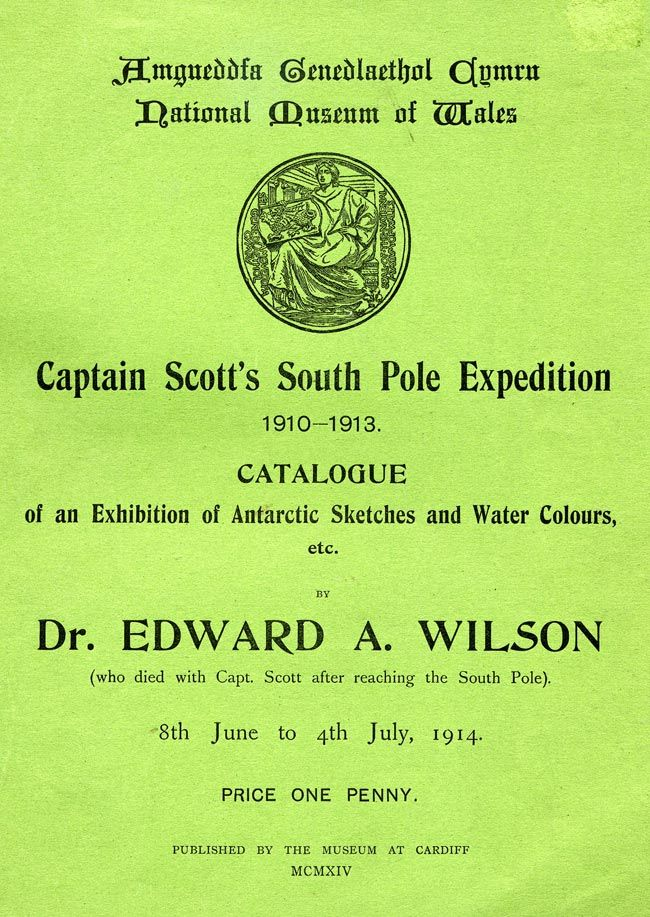 1914 temporary exhibition of Edward Wilson's Antarctic watercolours and sketches