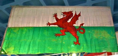 The Welsh flag made by Howell & Co and presented to Scott's Expedition.