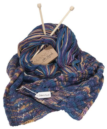 Merino Wool Scarf Blue