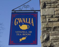 Gwalia Tea Rooms sign, St Fagans National History Museum