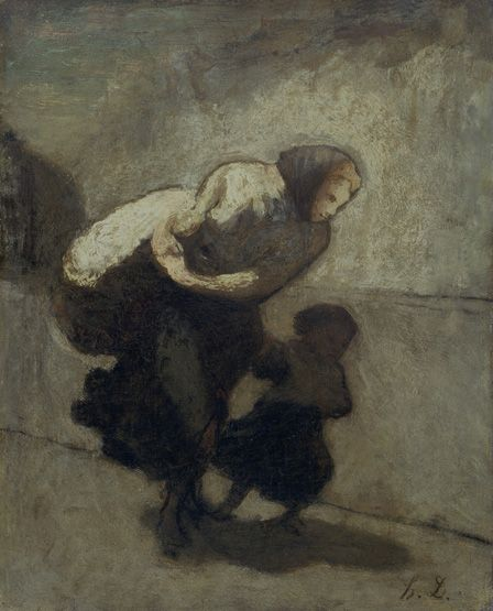 The Heavy Burden, Honore Daumier