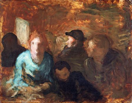 A Third Class Carriage, Honore Daumier