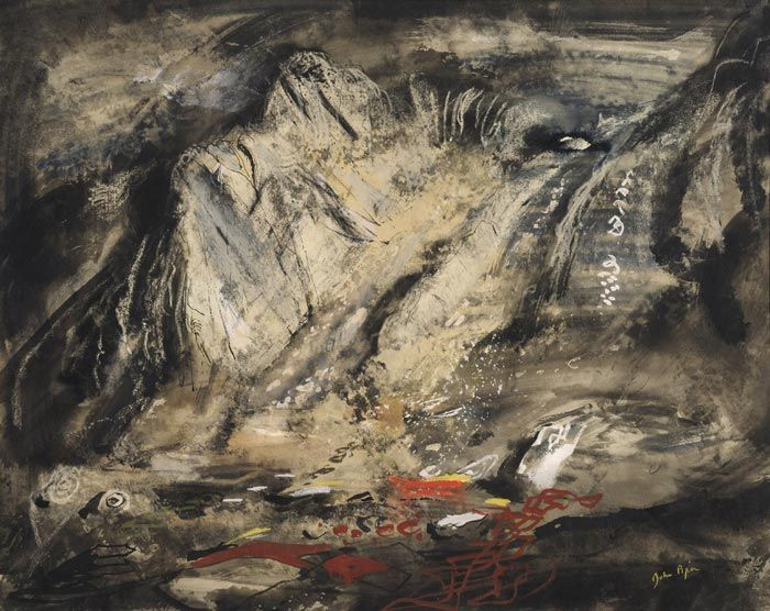 Jagged rocks under Tryfan, John Piper