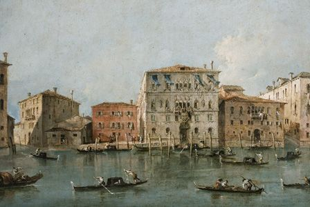View of the Palazzo Loredan dell'Ambasciatore on the Grand Canal, Venice