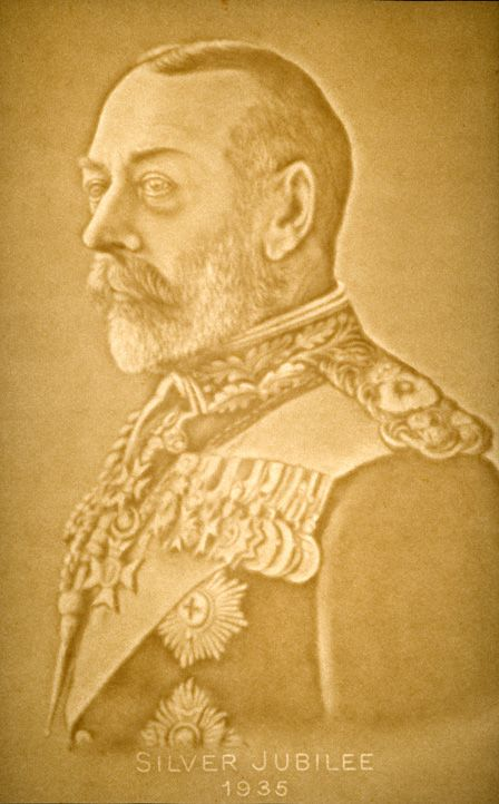Watermark portrait of King George V