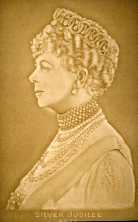 Watermark portrait of Queen Mary