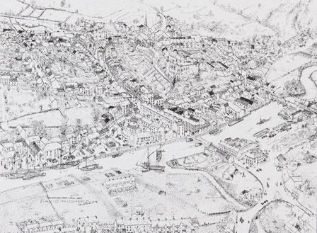 Haverfordwest circa 1845