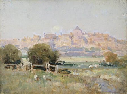 Landscape with village