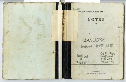 Cyril Fox archive [Notebook XI]: front and back cover