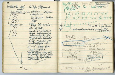 Cyril Fox archive [Notebook XI]: Pages 57 & 58