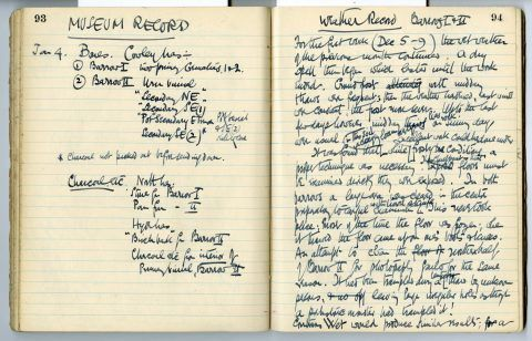 Cyril Fox archive [Notebook XI]: Pages 93 & 94