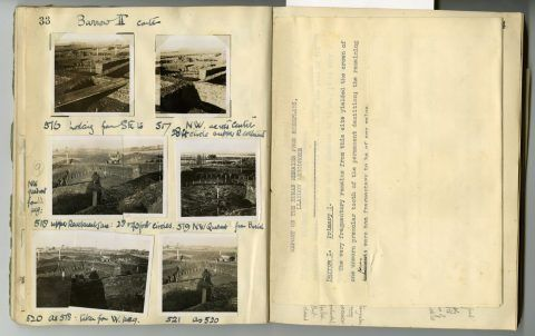 Cyril Fox archive. Notebook XII: Pages 33 and 34