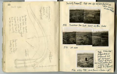 Cyril Fox archive. Notebook XII: Pages 35 and 36