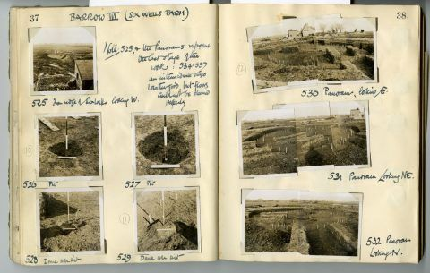 Cyril Fox archive. Notebook XII: Pages 37 and 38