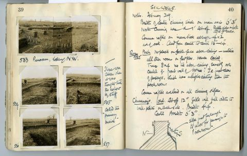 Cyril Fox archive. Notebook XII: Pages 39 and 40