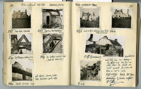 Cyril Fox archive. Notebook XII: Pages 49 and 50