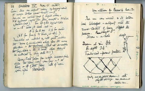 Cyril Fox archive. Notebook XII: Pages 51 and 52 [Front of insert]