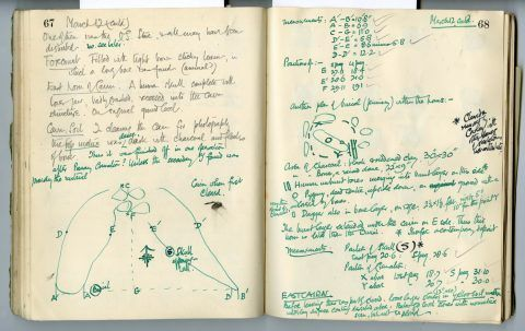 Cyril Fox archive. Notebook XII: Pages 67 and 68