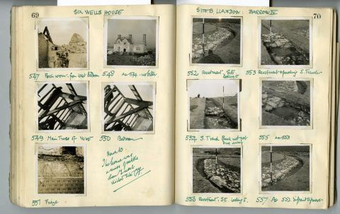 Cyril Fox archive. Notebook XII: Pages 69 and 70