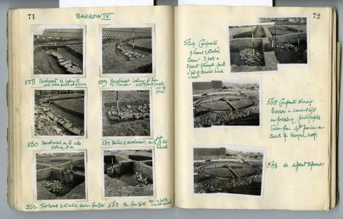 Cyril Fox archive. Notebook XII: Pages 71 and 72