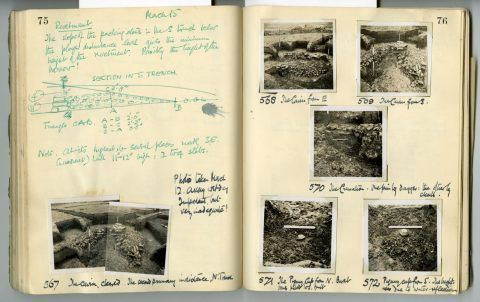 Cyril Fox archive. Notebook XII: Pages 75 and 76