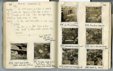 Cyril Fox archive. Notebook XII: Pages 83 and 84