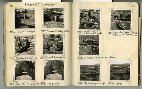 Cyril Fox archive. Notebook XII: Pages 99 and 100