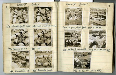 Cyril Fox archive. Notebook XIII: Pages 1 and 2