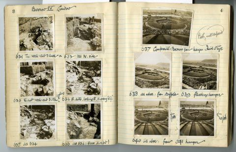 Cyril Fox archive. Notebook XIII: Pages 3 and 4