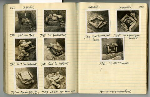 Cyril Fox archive. Notebook XIII: Pages 121 and 122