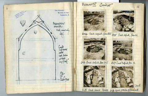Cyril Fox archive. Notebook XIII: Pages ii and iii